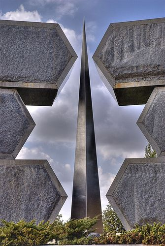 The Partisans Memorial at Yad Vashem, the Holocaust museum in Jerusalem, Israel